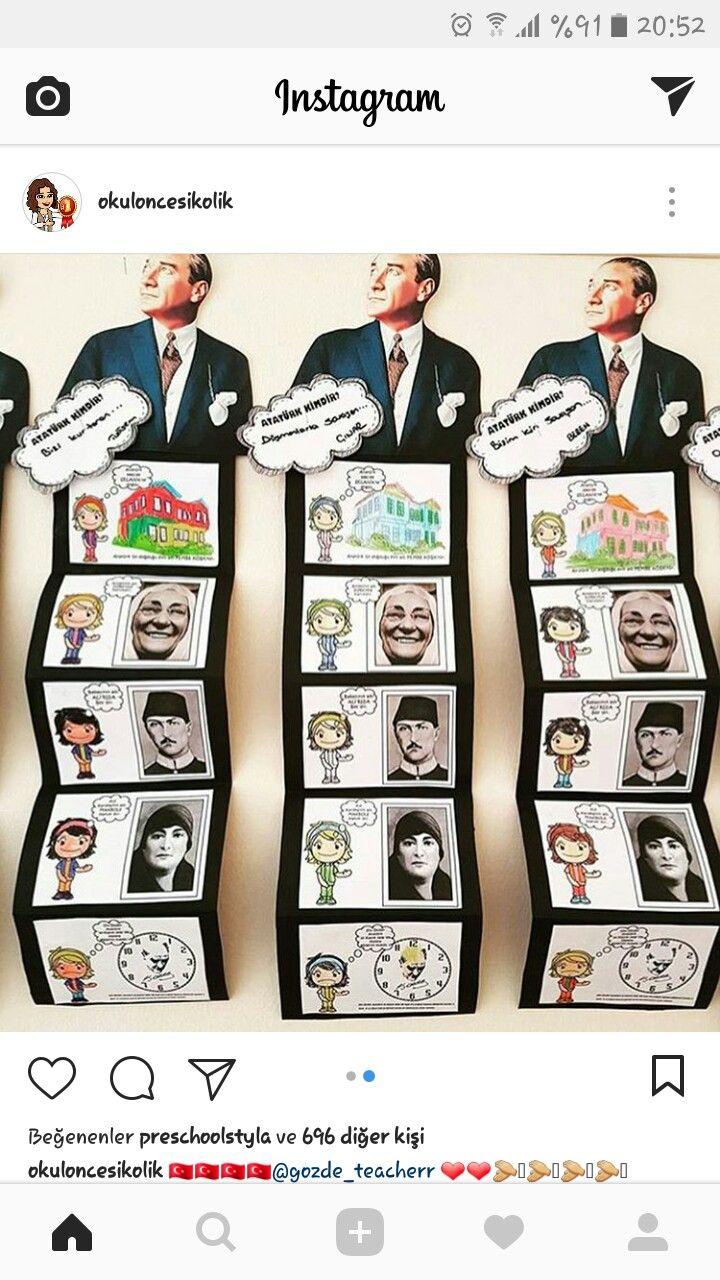Tc Esra Baytemir Adli Kullanicinin Ataturk Panosundaki Pin Okul Faaliyetler Sinif Temalari