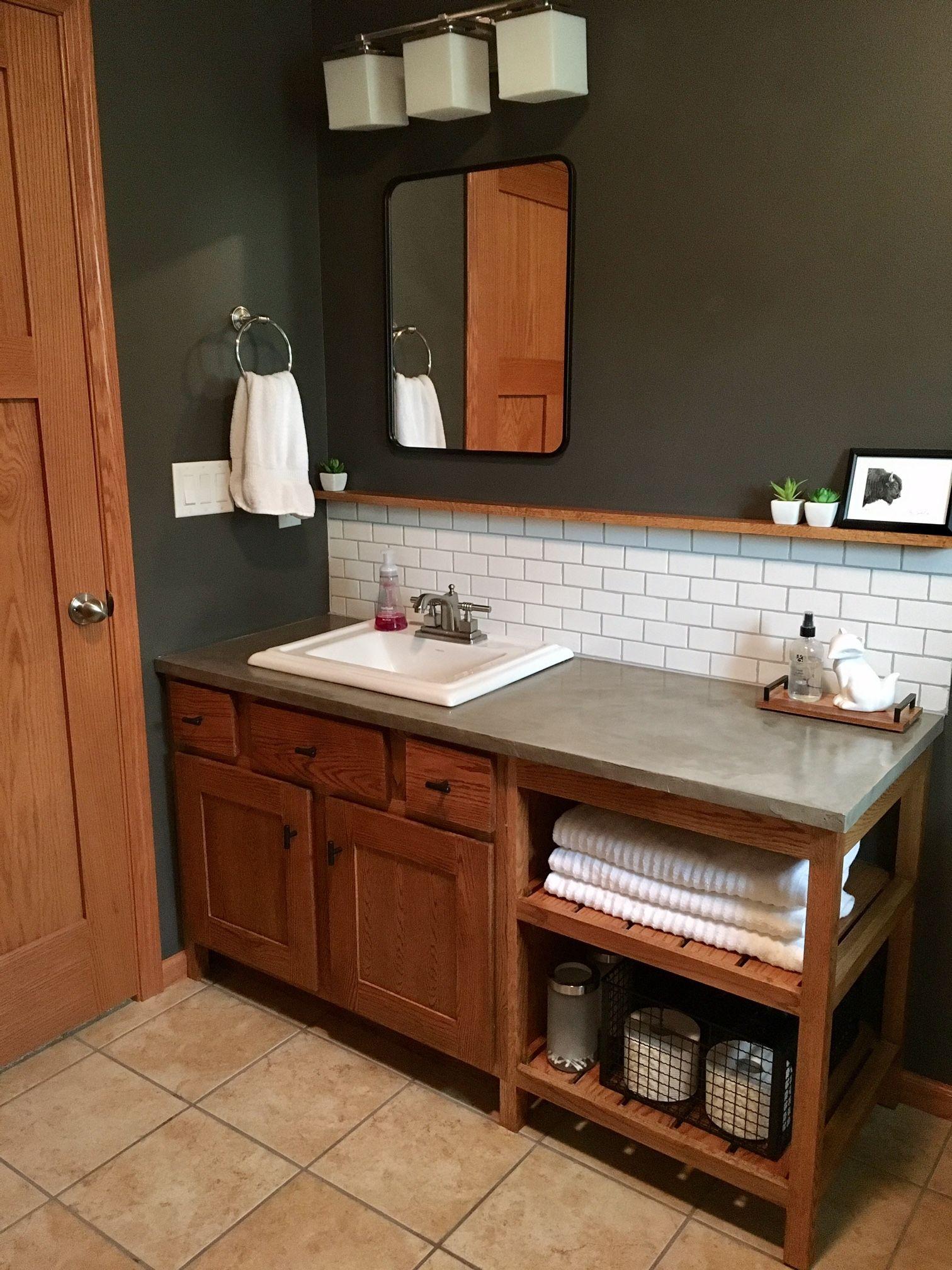 Concrete Overlay On Bathroom Countertop Using Ardex