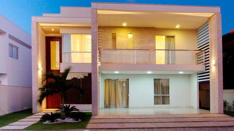 20 fachadas de casas modernas com linhas retas veja for Modelos de fachadas de casas