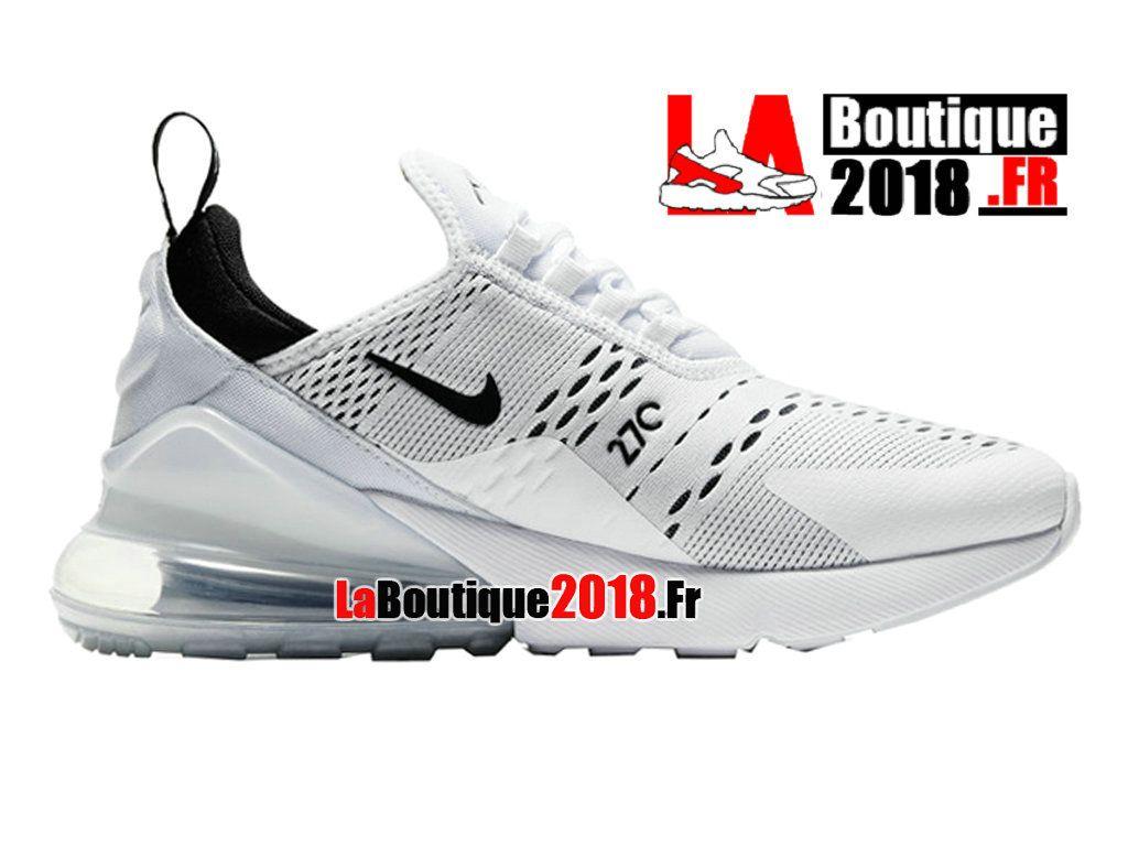 Nike Air Max 270 - Chaussure de Running Pas Cher Pour Homme Blanc Noir  AH8050- 9d5faaae219a