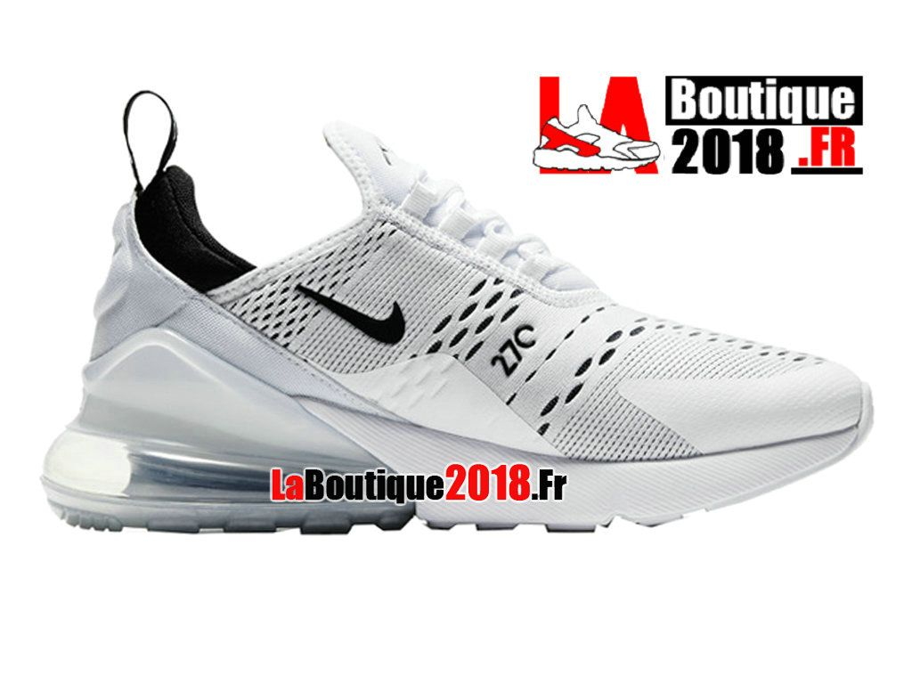 buy popular 88ec6 8a67a Nike Air Max 270 - Chaussure de Running Pas Cher Pour Homme Blanc Noir  AH8050-