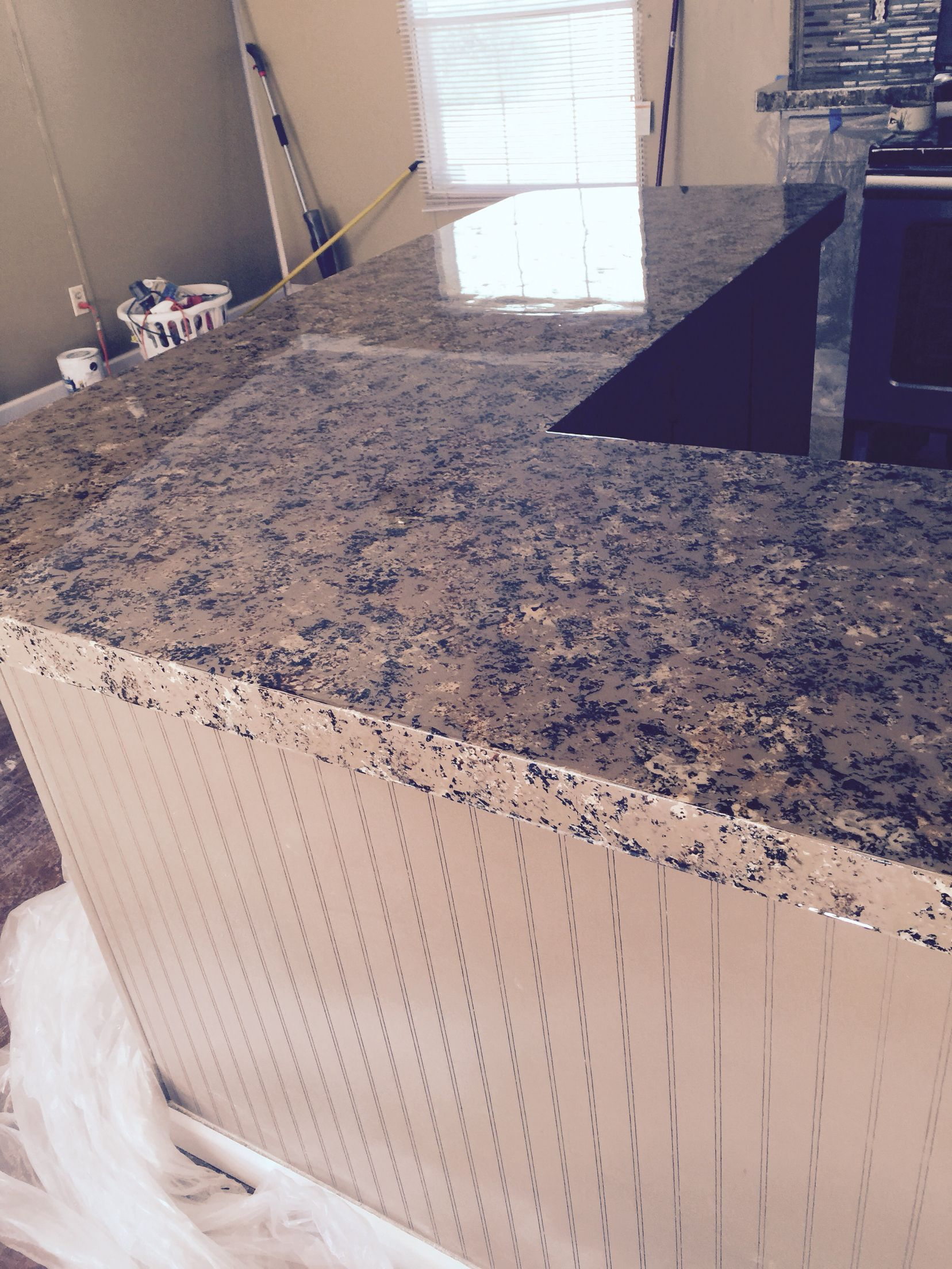 Giani Countertop Paint Instead Of Using Step 3 Clear Coat We Used An Epoxy Top Coat Turned Out Excell Giani