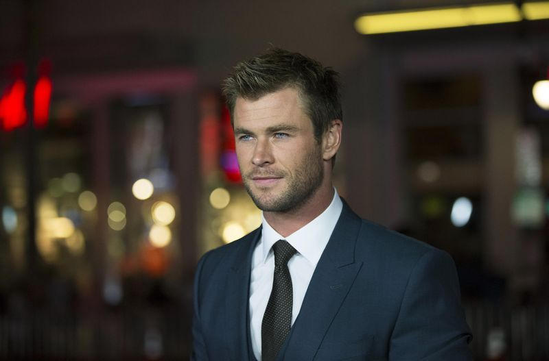 "Cast member Chris Hemsworth poses at the premiere of ""Blackhat"" at the TCL Chinese theatre in Hollyw... - REUTERS/Mario Anzuoni"