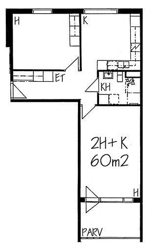 Rakuunantie, Munkkiniemi, Helsinki, 2h+k 60 m², SATO vuokra-asunto