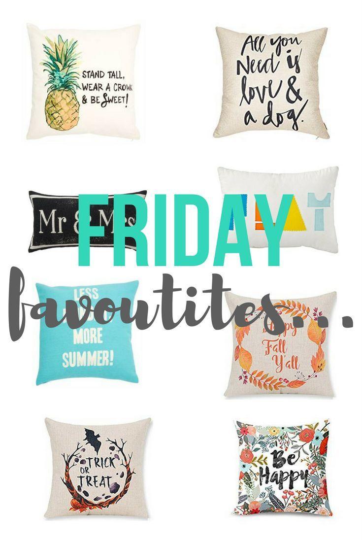 Friday Favourite - Quirky Pillows | kikiinteriors.com