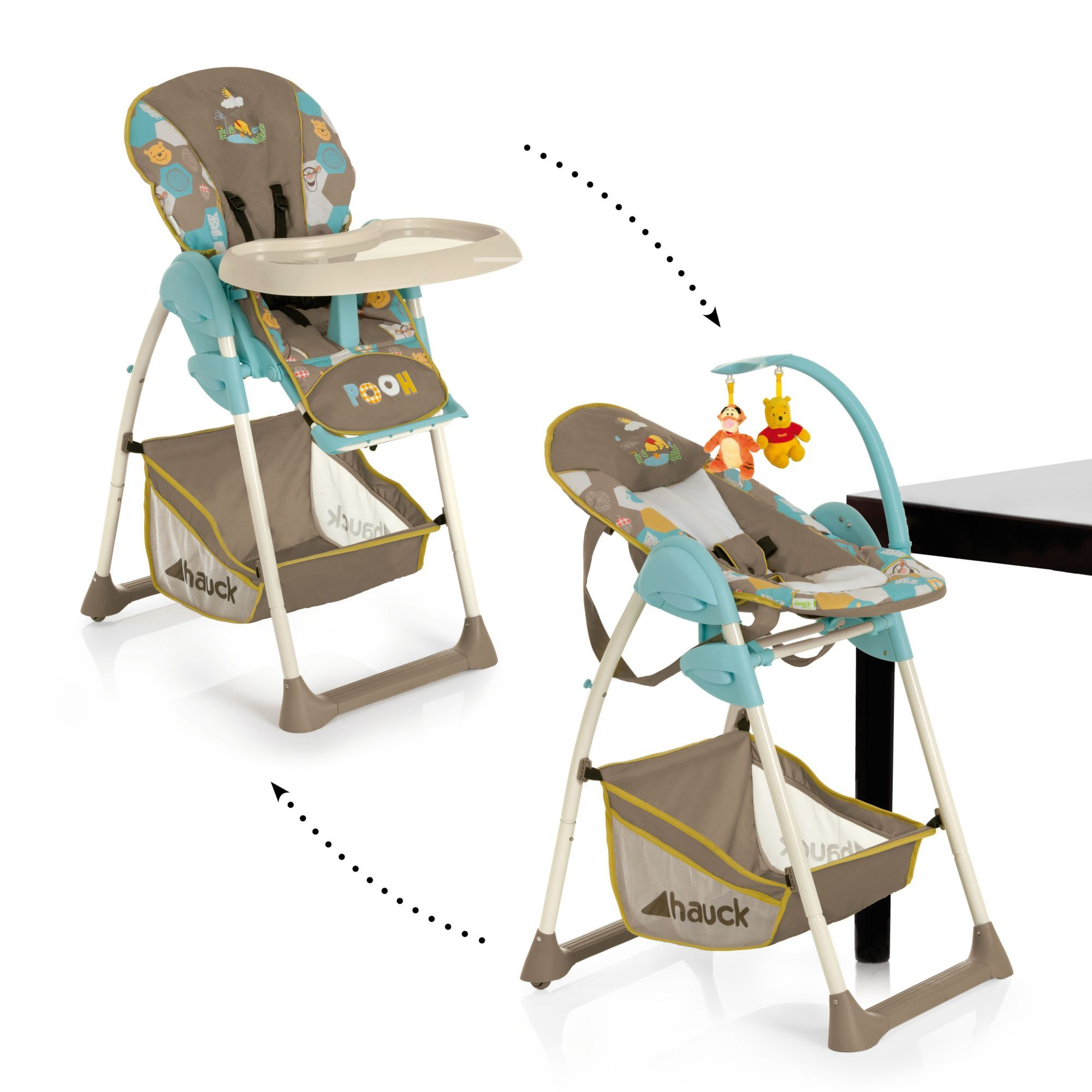 disney baby sit n relax highchair pooh spring in the woods