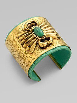Aurélie Bidermann Turquoise Etched Bracelet
