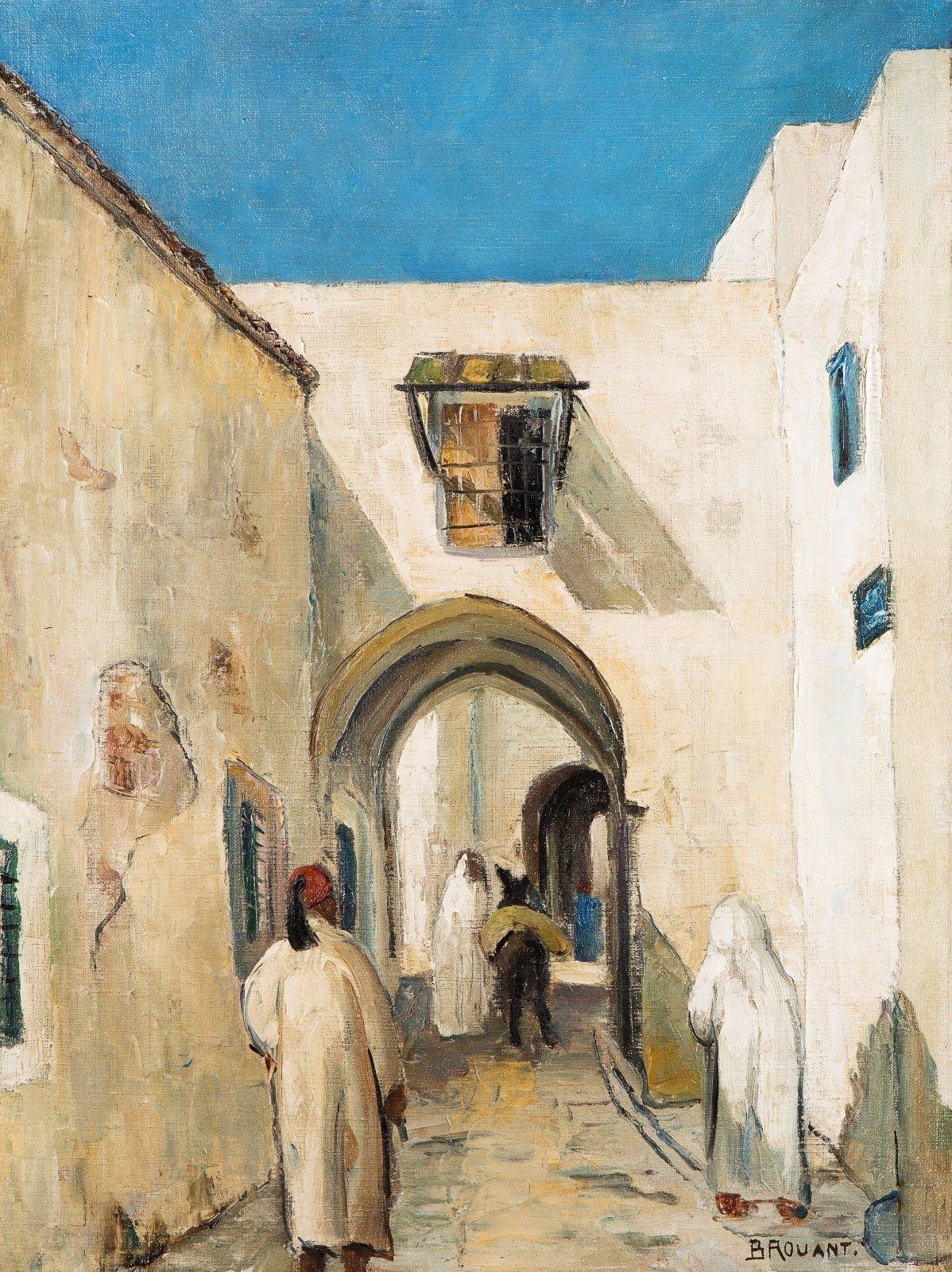 Jean Brouant Medina De Tunis Peinture Orientaliste Peinture