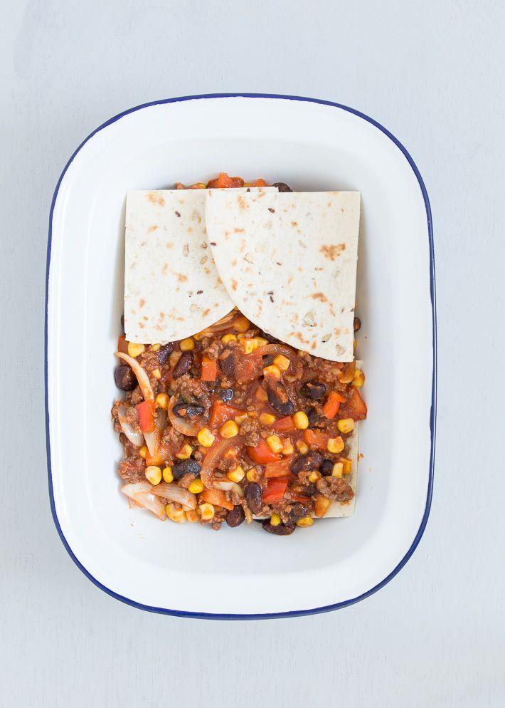 Mexicaanse Lasagne Uit Pauline S Keuken Lasagne Voedsel Ideeen Wrap Recepten