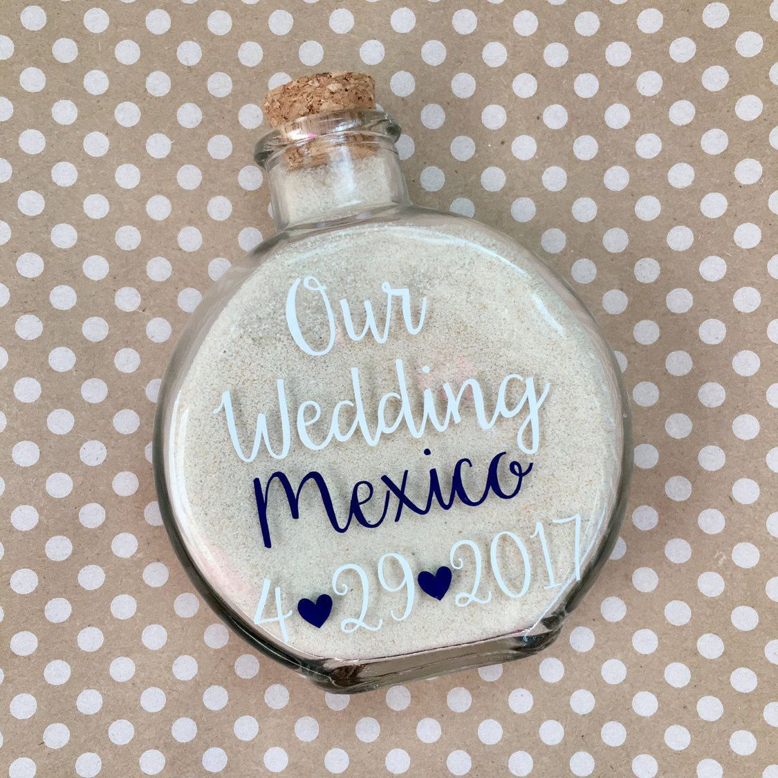 Destination Wedding Sand Holder Keepsake Destination Wedding