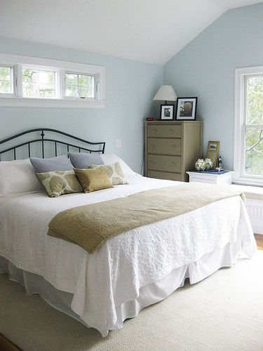 Lovely Light And Airy Bedroom Color Of Walls With The Beige Bedding