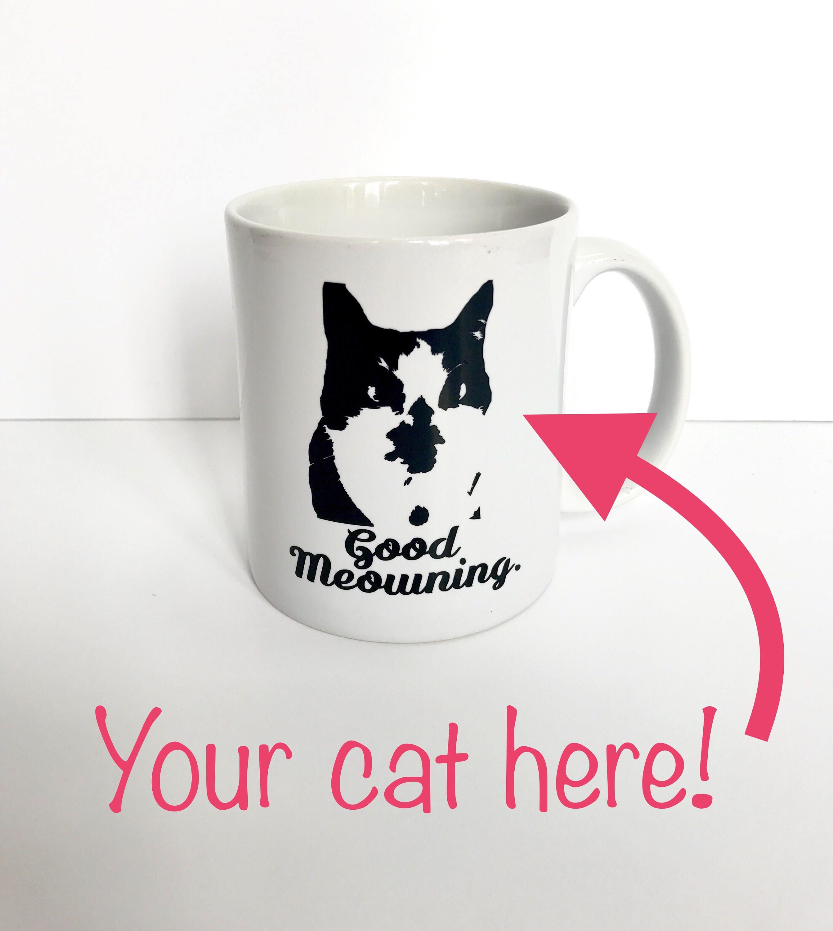 Personalized custom cat coffee mug! How cute is this