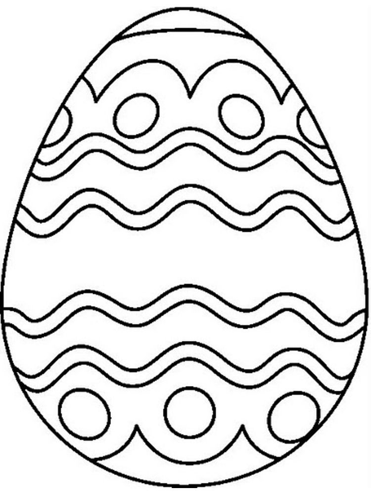 Easter Egg Coloring Pages Simple Egg Coloring Page Coloring Eggs