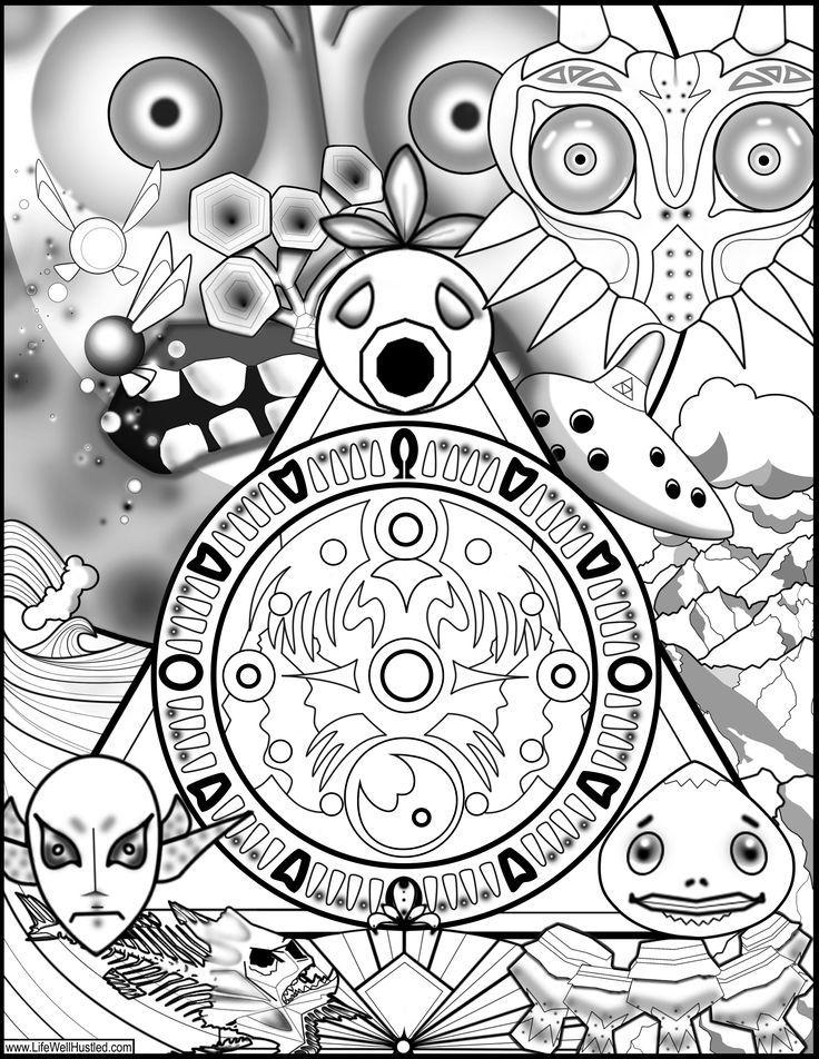 Legend of Zelda Majora's Mask Coloring Book Page