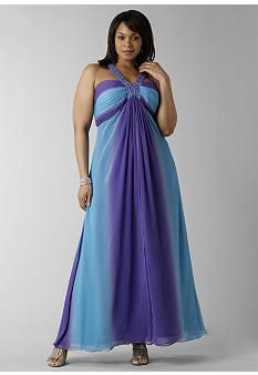 Aqua and Purple Bridesmaid Dresses
