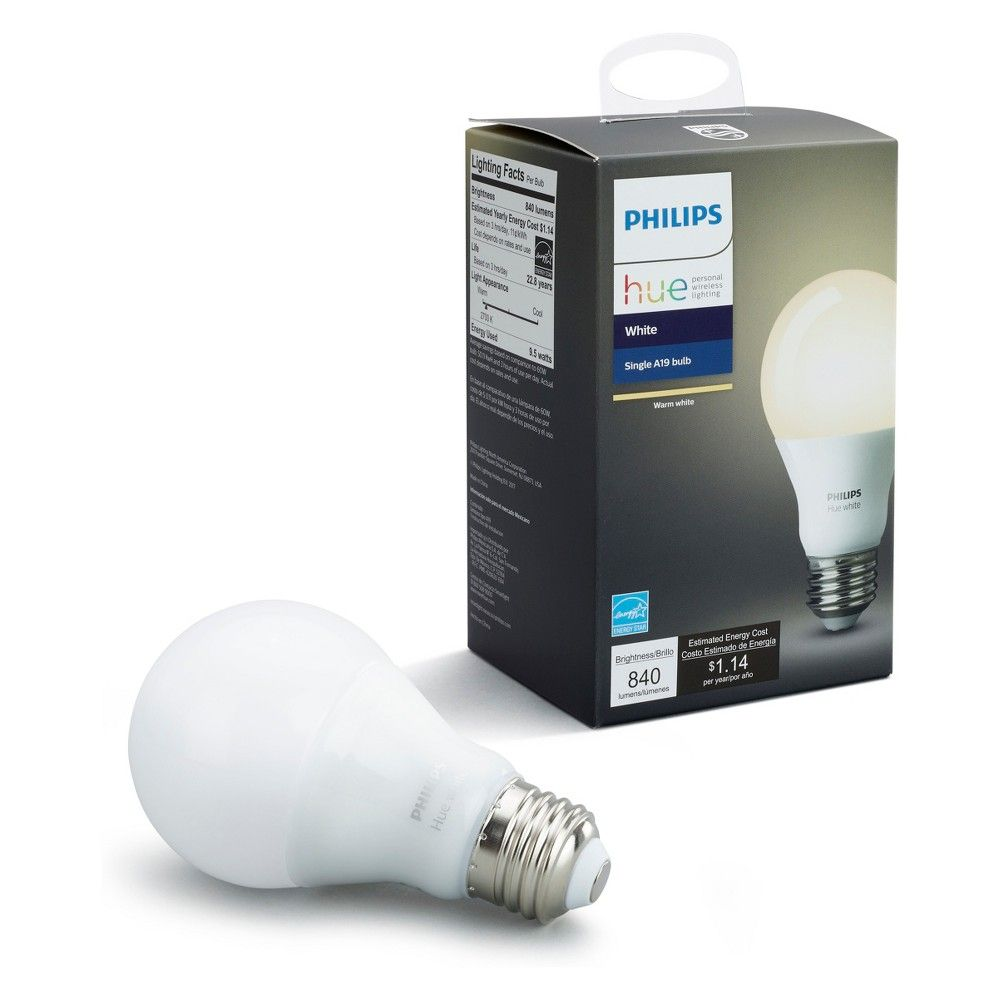 Target Light Bulbs Philips Hue A19 White 60w Equivalent Smart Led Bulb Products