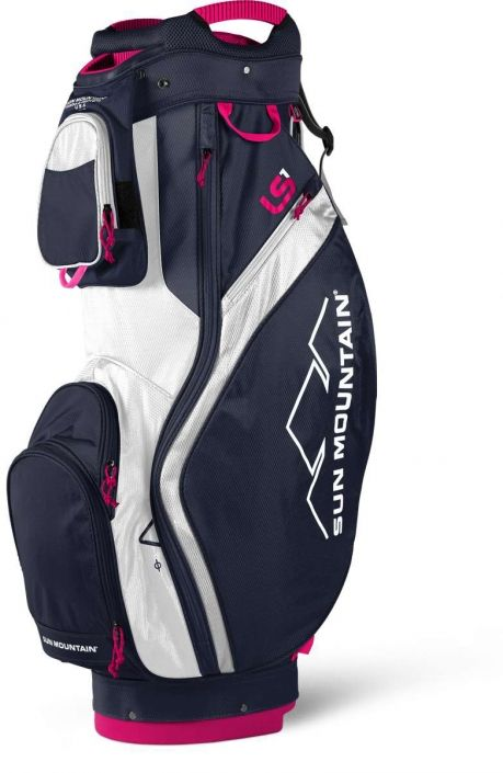 Love Golf Bags Here S Our Navy White Hot Pink Sun Mountain Ladies 2018 Ls1 Golf Cart Bag Find Plenty Of Golf Acces Golf Bags Golf Bags For Sale Golf Fashion