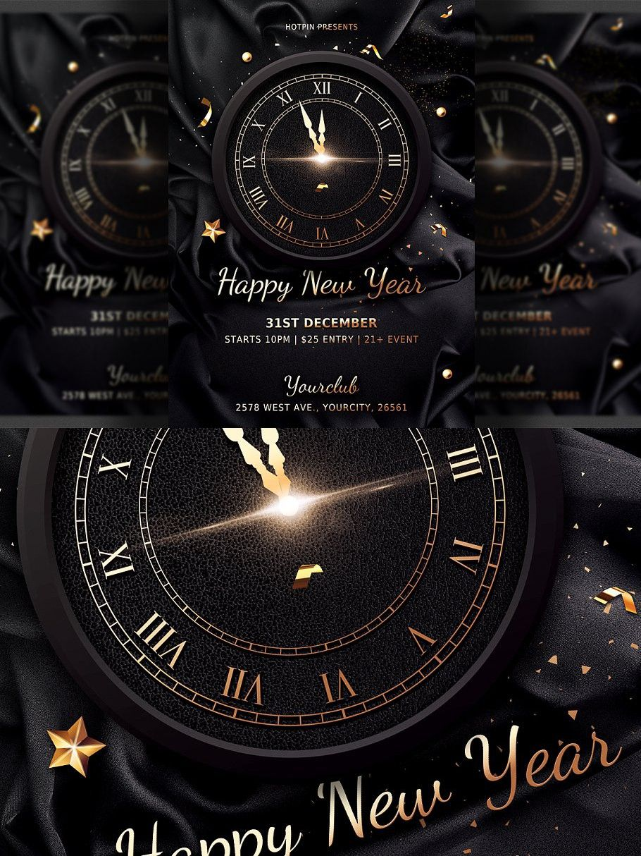 Classy New Years Eve Flyer Template In 2020 New Year S Eve Flyer Flyer Template Flyer