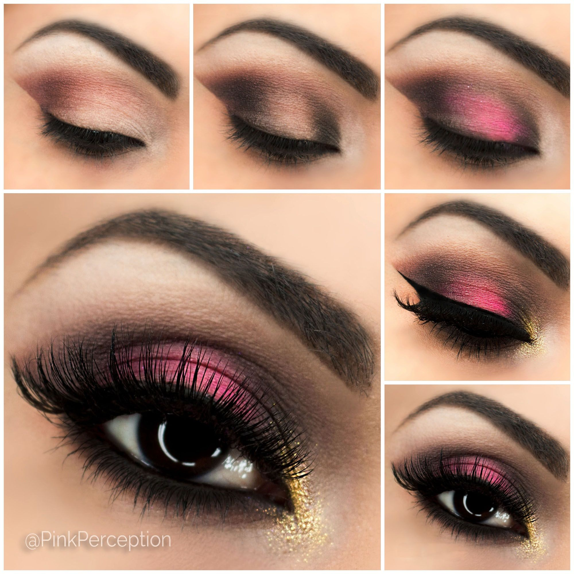 Pink Smokey Eye Step By Step Tutorial Smoky eye makeup