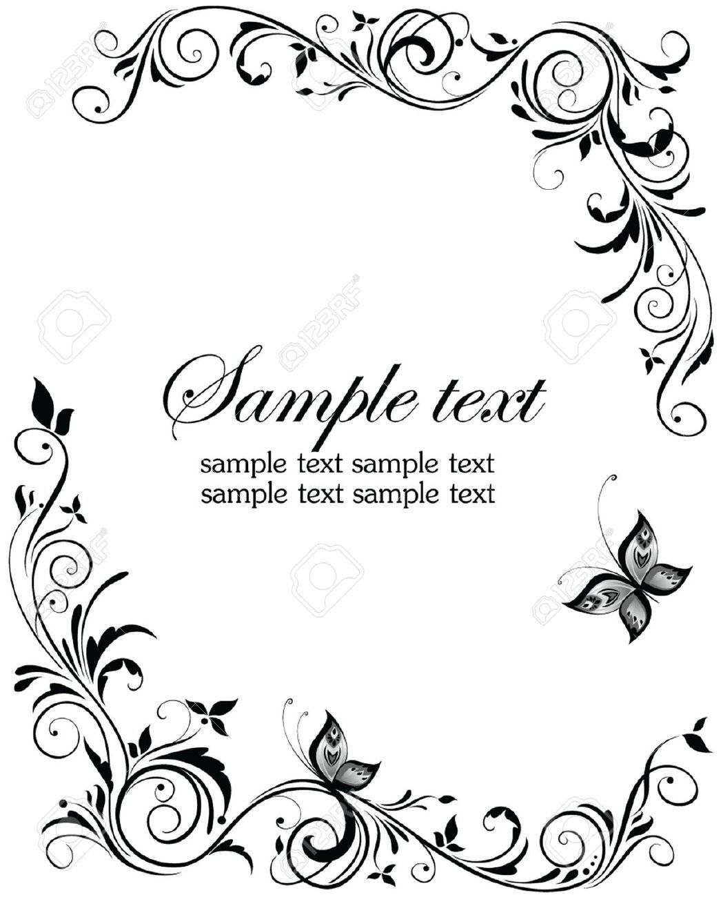 top formal invitation card border templates 35 on free for