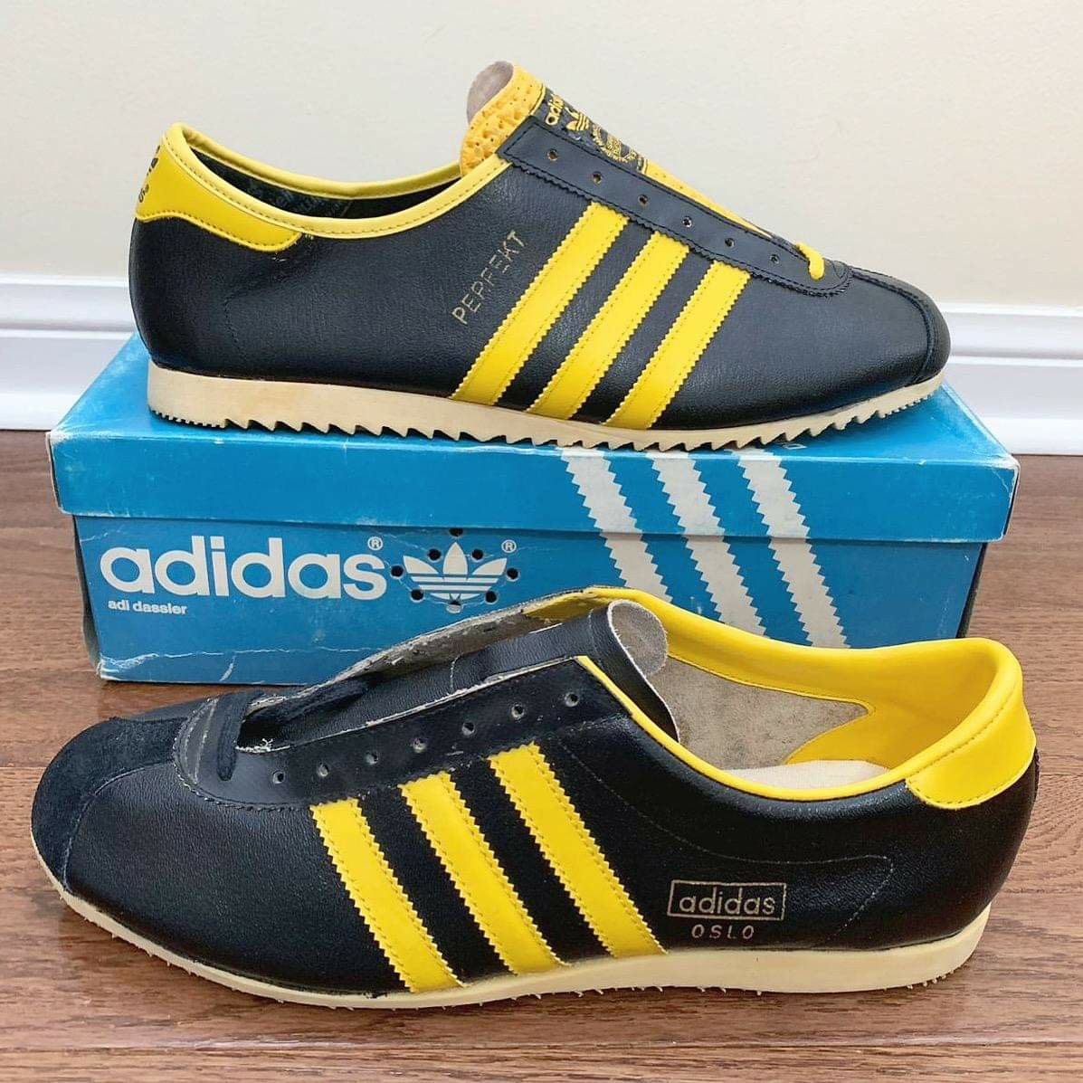 Vintage Austrian made Adidas Perfekt and West German Oslo