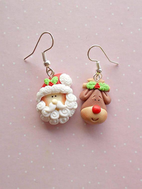 Christmas Earrings Rudolph Xmas Secret Santa Gift Jewellery Ornament Jewelry