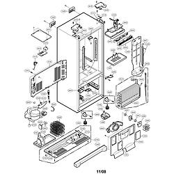 Case Model #LFC25770SB/00 LG Bottom-Mount Refrigerator