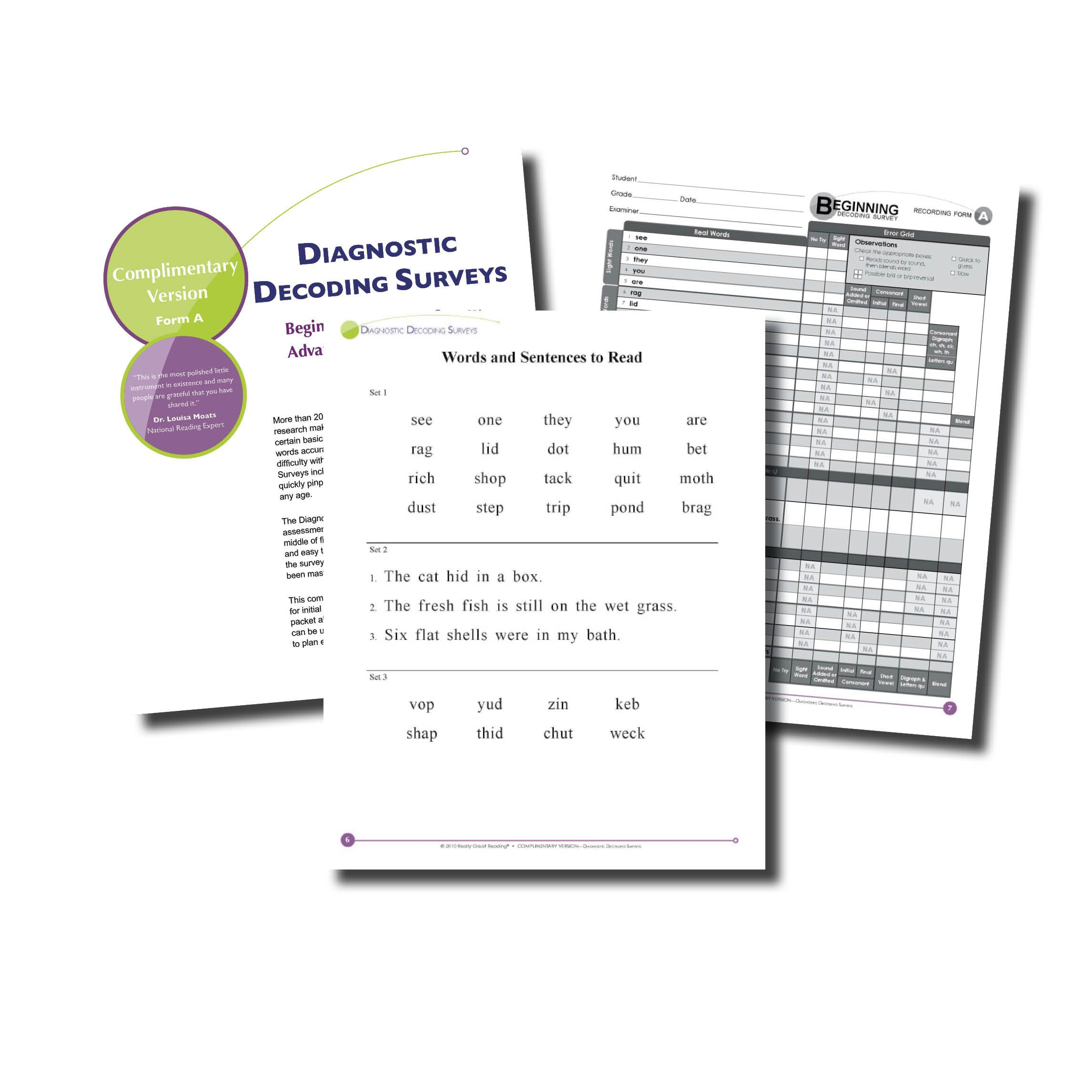 Beginning Phonics Diagnostic Assessment