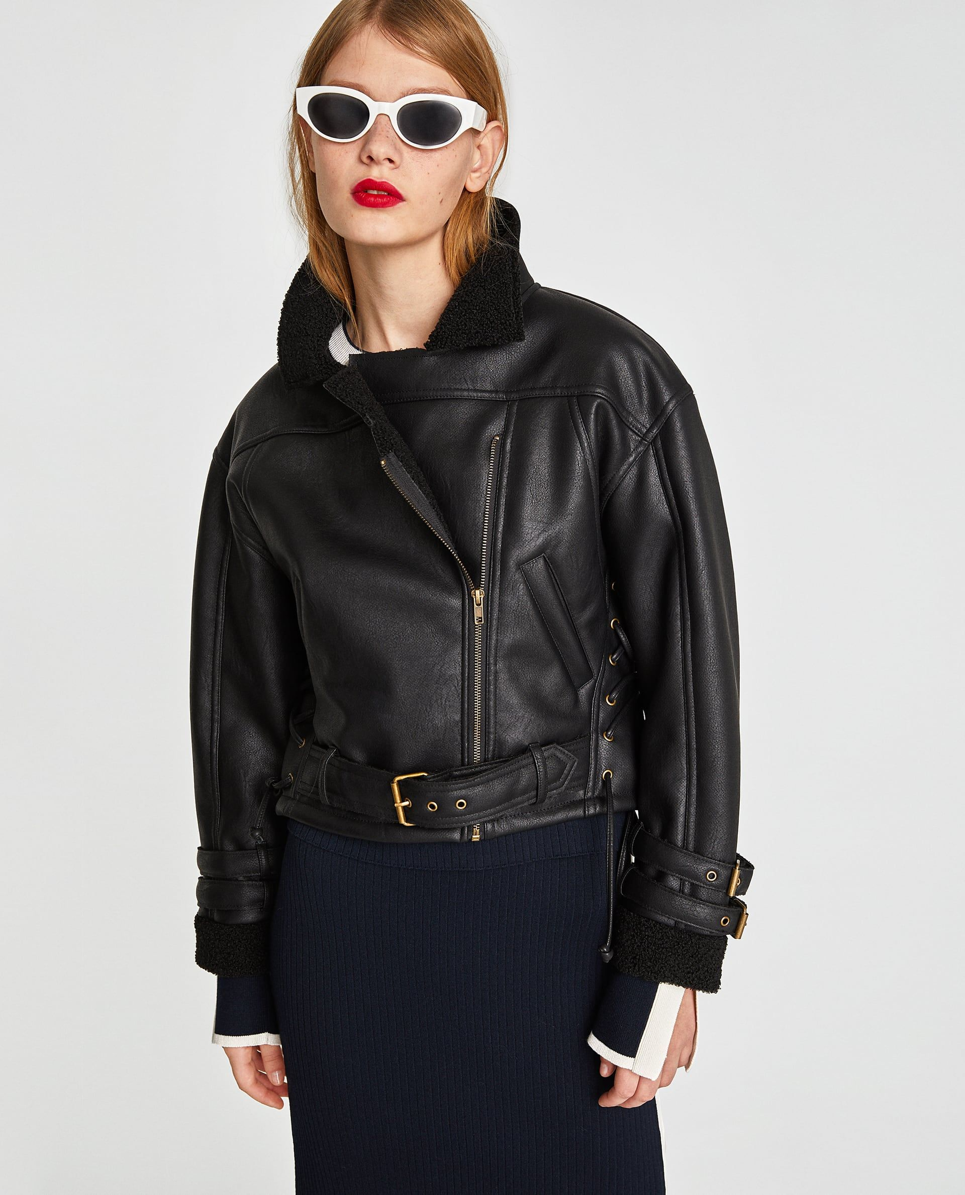 FAUX LEATHER CROPPED JACKET (With images) Cropped biker