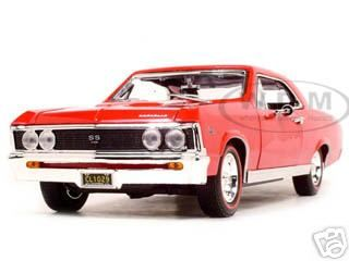 Click Image Above To Purchase 1967 Chevrolet Chevelle Ss 396 Cast Model Car 1 18 Amber Red By Motormax