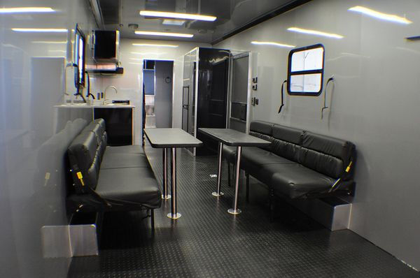 38 39 aluminum intech living quarters trailer custom design by rpm trailer sales custom interior. Black Bedroom Furniture Sets. Home Design Ideas