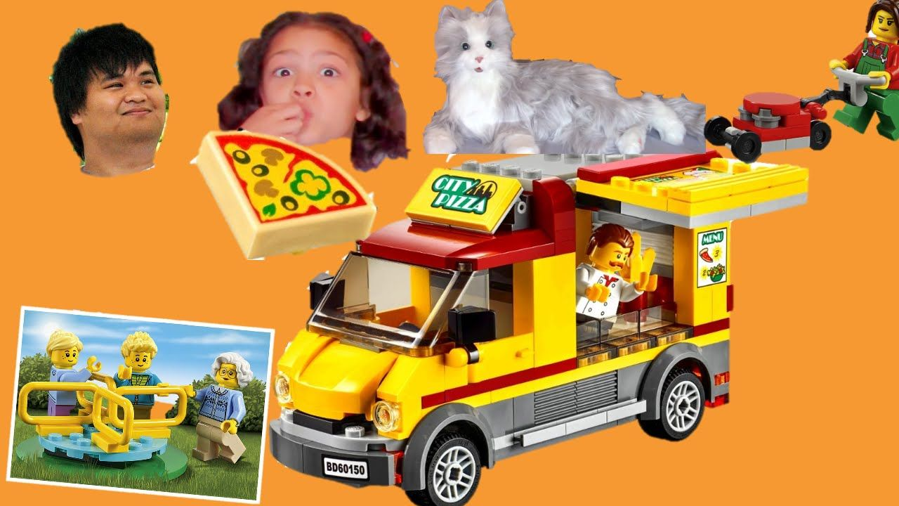 Lego City Pizza Van and Play In The Park Quick Build And ...