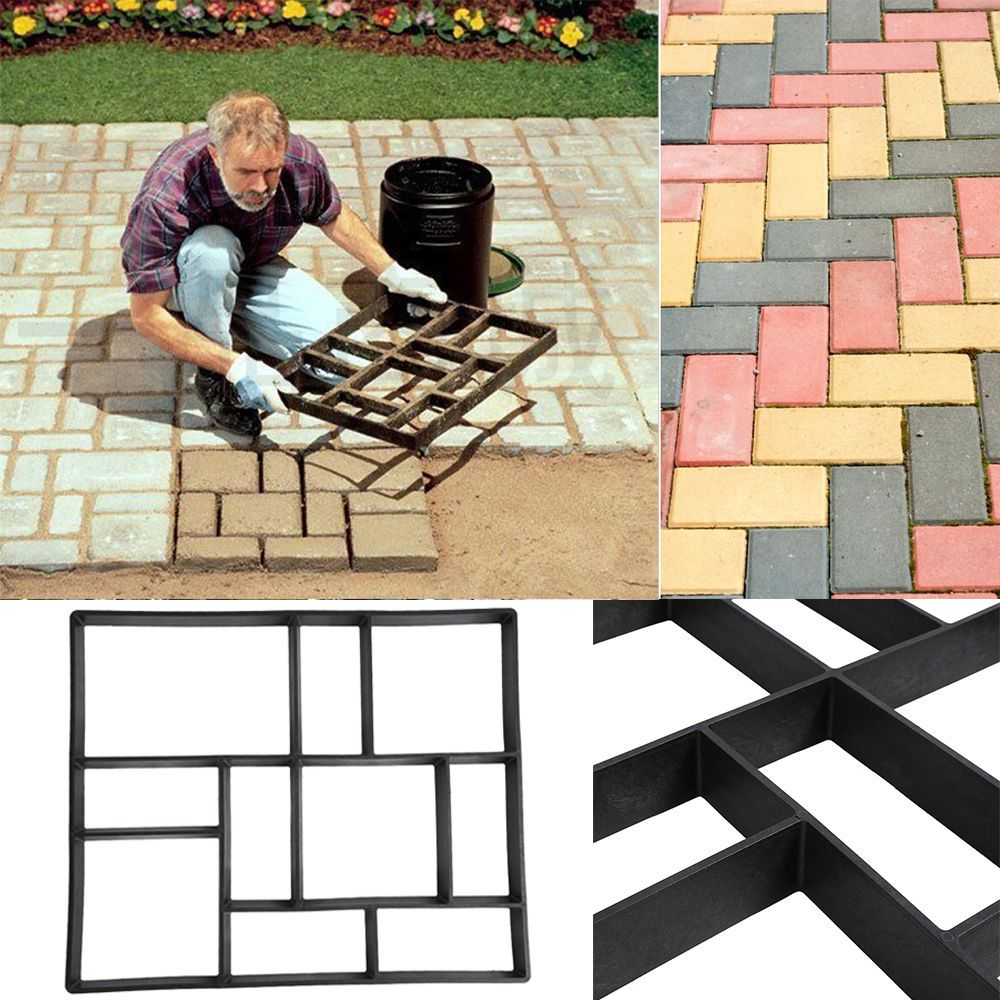 Plactic Pathmate Stone Paving Mold Concrete Stepping Walk Way Mould Paver 10Grid is part of Diy garden - So the path is more exotic, to create a style of their own garden path  Health & Beauty  Clearance10%  We hope we can get a chance to fix the problem  Material PP Resin  Color  Black  Size  60X50X5cm 23 6 X19 7 X2