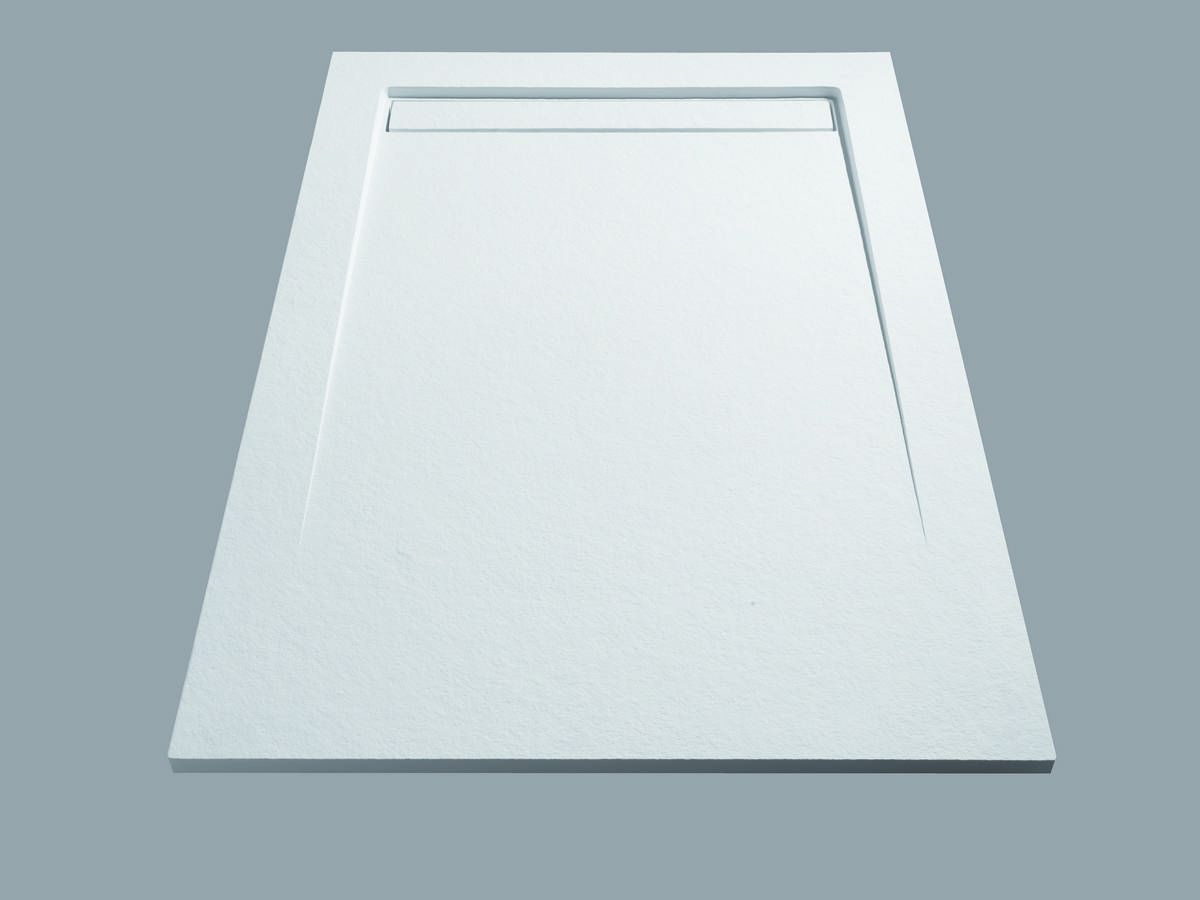 Line X Solid Surface Shower Tray In Scene Detail 1
