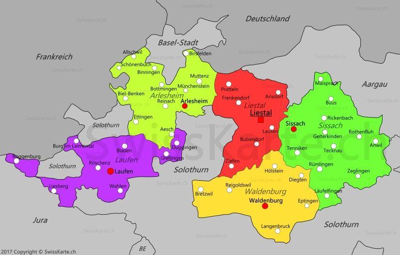 basel karte deutschland Karte Kanton Basel Landschaft | Basel, Karten, Reinach