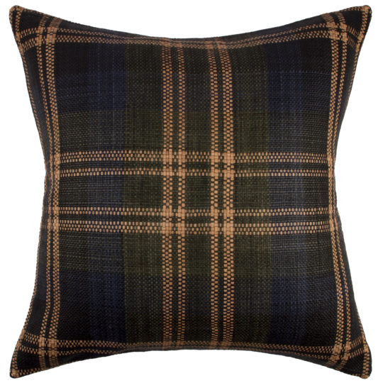 Elvy Pillow 24 Square Olive Leather Pillow Hand Weaving Pillows