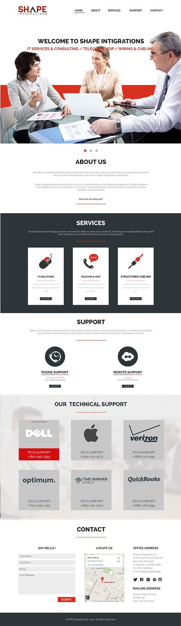 Website Design #2 on #Behance #website #design #photoshop #psd #one #page #bootstrap #grid