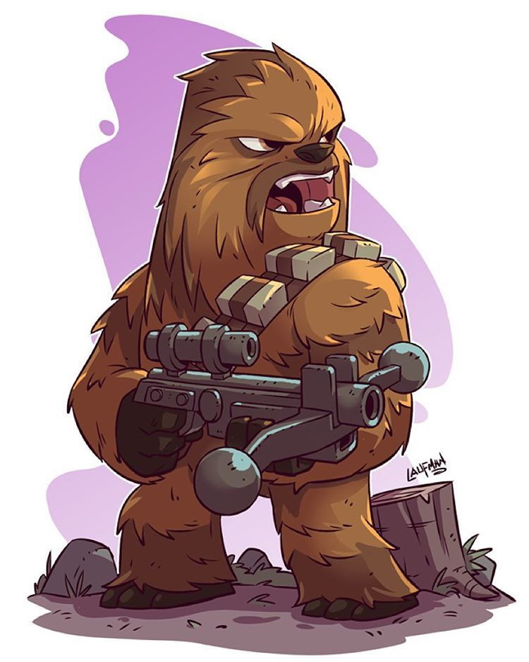 Chew On This Print Available At Dereklaufman Com Link In My Profile Starwars Chibi Chewbacca Star Wars Fan Art Dessin Star Wars Dessins Star Wars