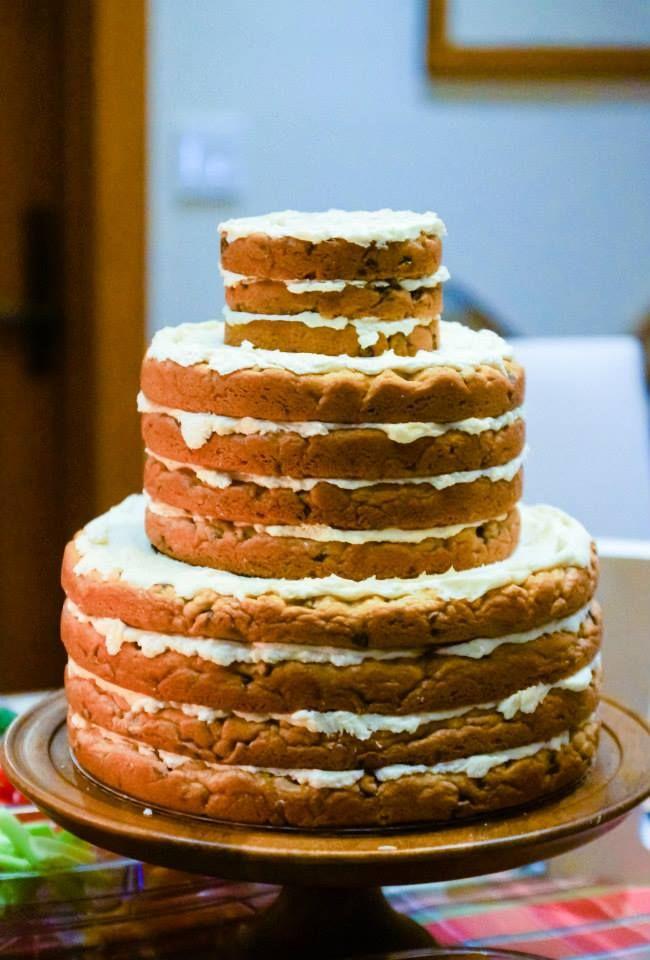 Three Tier Chocolate Chip Cookie Cake Pie Wedding Cookies Birthday