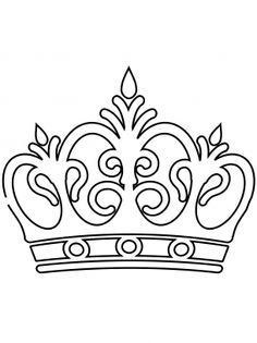 Corona Crown Template Crown Drawing Coloring Pages