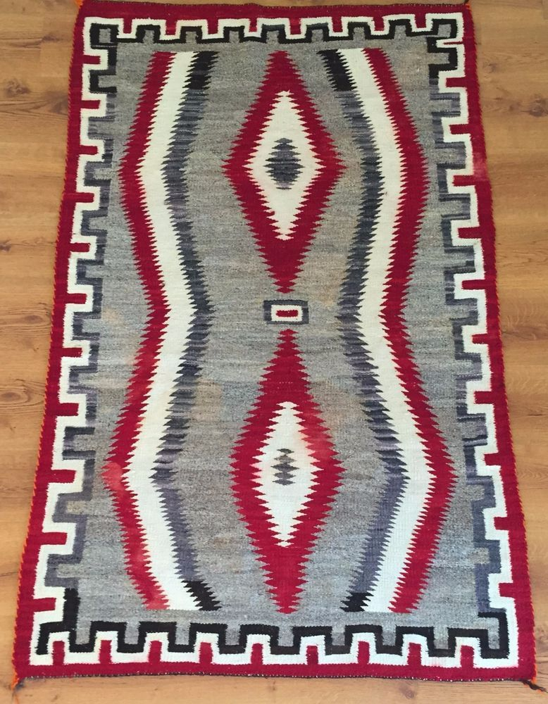 Vintage Navaho Weaving 69 X Antique Navajo Rug Textile By Blindsquirreltrading On Etsy