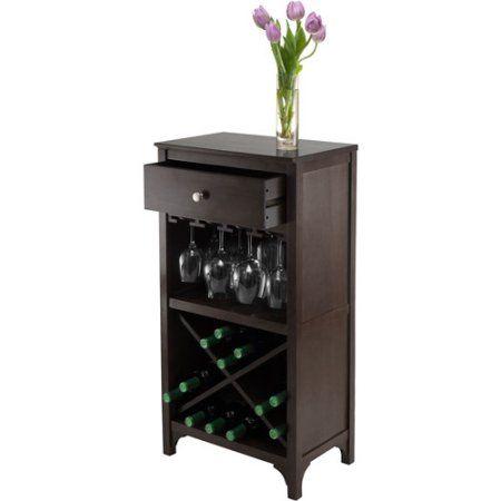 Ancona Modular Wine Cabinet, X-Shelf, Dark Espresso - Walmart.com
