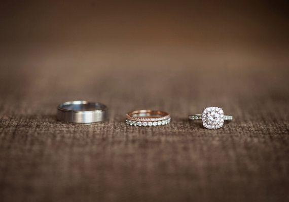 Wedding Rings Photo By West Loop Studios 100 Layer Cake Wedding Rings Photos Mismatched Wedding Bands Mixed Metal Wedding Rings