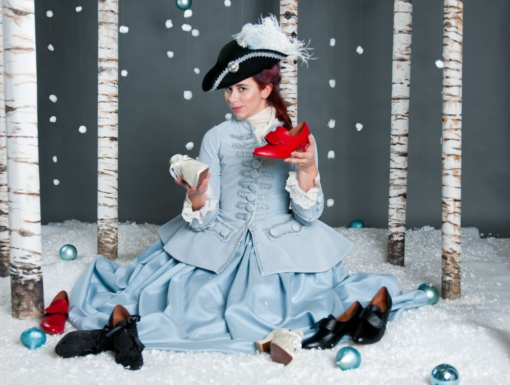 Historical Shoes - which to choose!? Model Lauren Wills for