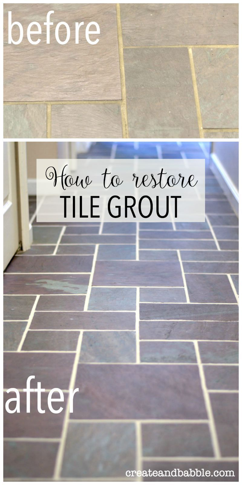 Slate floor grout renew all things homely pinterest grout