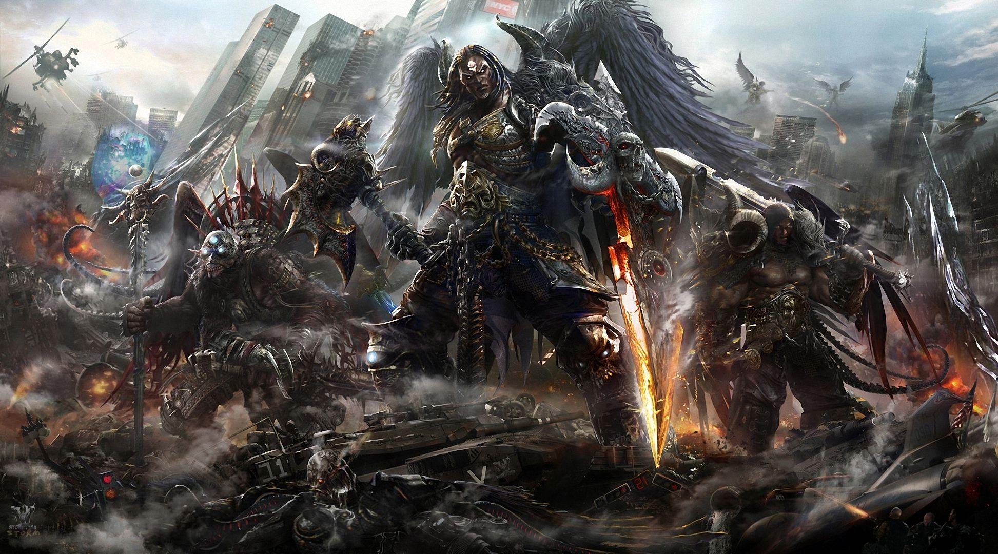 armor art battle demons fantasy games magic monsters warriors ...