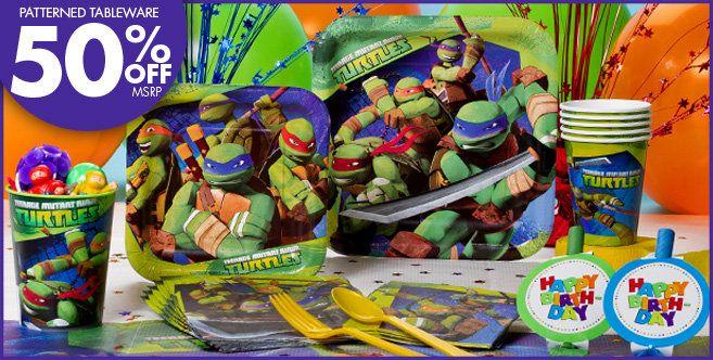 Teenage Mutant Ninja Turtles Party Supplies Party City Teenage Mutant Ninja Turtles Party Ninja Turtle Birthday Turtle Party