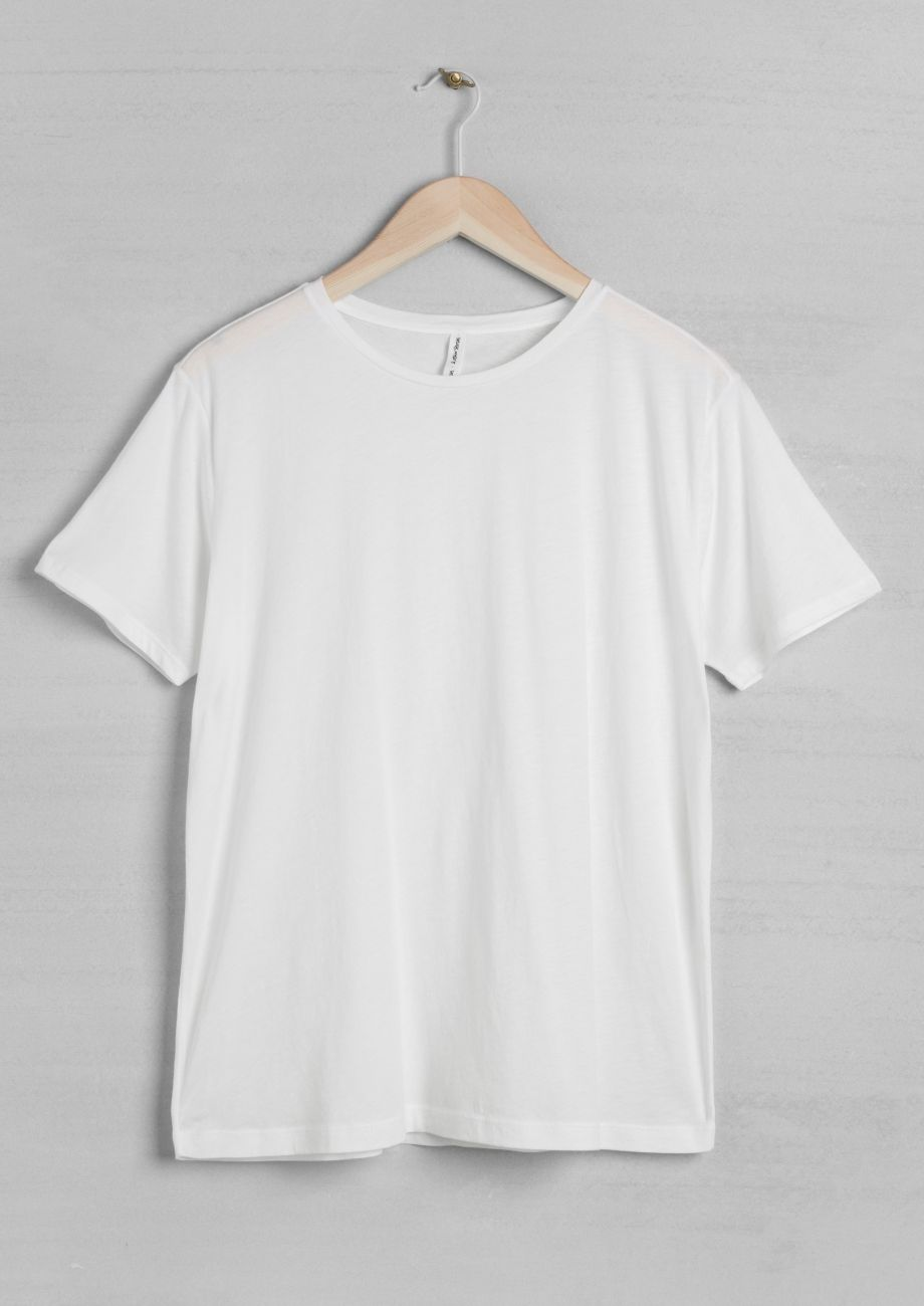 Download Other Stories Cotton T Shirt White Clothes White Short Sleeve Tops Cotton Tshirt