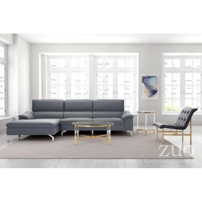 The Ephemeral Sectional features a plush low profile design, added flange seam detail, high back and added lumbar support for all day comfort. Two layout opt...