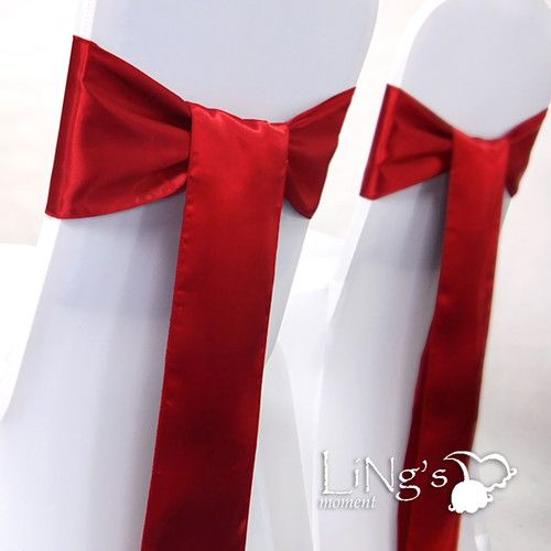 100 pcs 6x108 red wedding party banquet satin chair cover sash bow 100 pcs 6x108 red wedding party banquet satin chair cover sash bow decoration ebay junglespirit Image collections